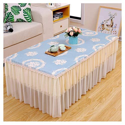 B 90150cm &Nappes Nappe de table basse en dentelle - Rectangular Living Room Bedside Dust Cloth nappe de table (Couleur   B, taille   90  150cm)