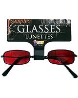 Forum Novelties S82601 Vampire Glasses In Red