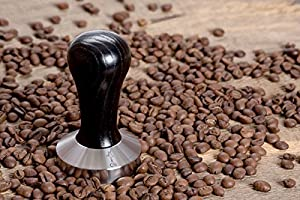 Coffee Tamper Standard for Espresso, Stainless Steel and Handle from Solid Wood. by CoffeeStyle