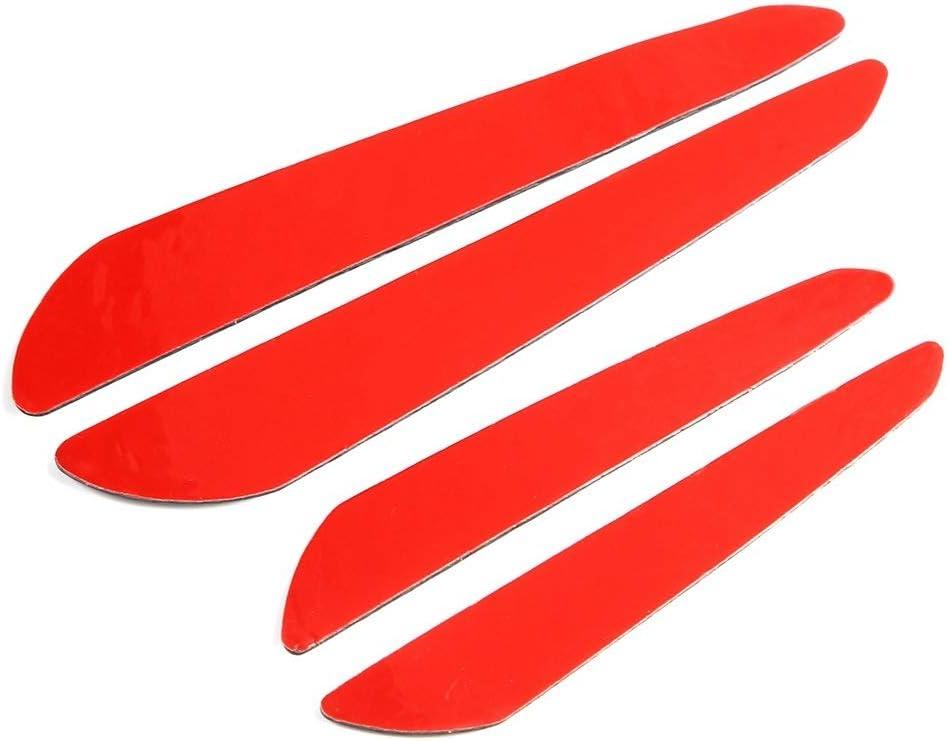 Door Bumper Protector Trim,4Pcs Carbon Fiber Door Edge Guard Bumper Protector Strips Trim Cover Car Universal