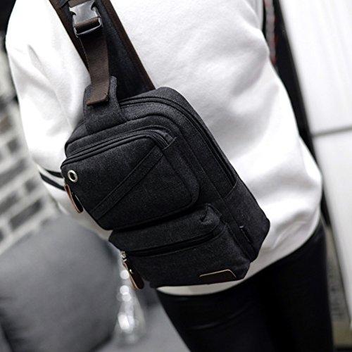 bolsa de lona/La pechera/bolso de bandolera/La bolsa de mensajero/Mochila unisex/Bolsas de viaje-C B