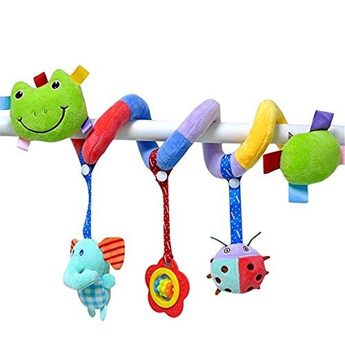 Tery Baby Toddler Toys Giocattoli per bambini Attività Spiral Culla carrozzina Spirale Sonaglio Passeggini Giocattolo pensile (rana)