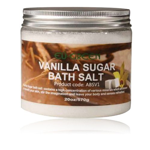 ssage Natural Sea Mineral Bath Salts, 2 Ounce, Vanilla Sugar ()