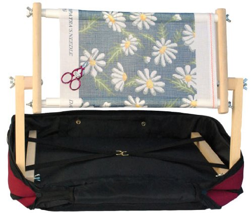 Hobby Gift Lapman Stickständer, 38cm, mit burgunderroter Tragetasche 38cm Siesta