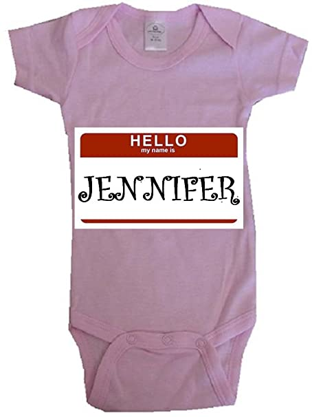 53ffde5ee86c Amazon.com  HELLO MY NAME IS JENNIFER - Name-series - White Or Pink ...