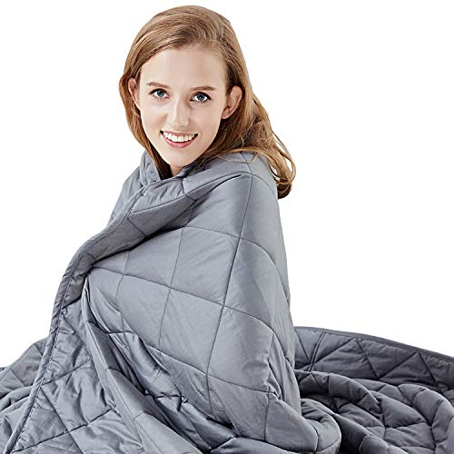 Hypnoser Weighted Blanket 2.0 for Kids and Adults | Dark Grey,48'x72'-15 lbs for...