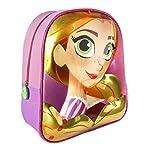 Disney-Rapunzel-2100002096-Zaino-3D-31-Centimetri-Bambina-Poliestere-Multicolore