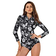 ZOMUSAR 2019 Sportswear, Rash Guard Long Sleeve Zip UV Protection Surfing Swimsuit Swimwear Bathing Suit
