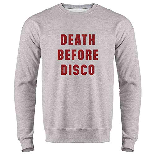 80's Movies Halloween Costumes Ideas (Pop Threads Death Before Disco Retro Halloween Costume Heather Gray S Crewneck Sweatshirt for)