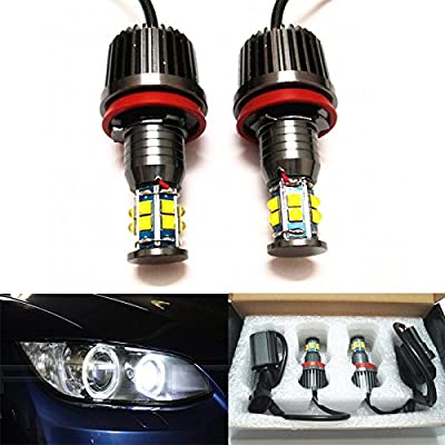 GFJMC Angel Eyes LED Lights Bulbs H8 120W Halo Ring Error Free for BMW E92 E93 E70 E71 F01 F02 F03 F04 E83 E70 E71 E89 3 5 7 Series X5 X6 Z4: Automotive