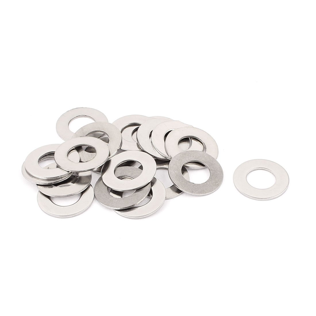 uxcell 20pcs 304 Stainless Steel M12 Thin Flat Washers Silver Tone a15090700ux0177