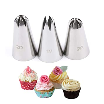 amazon com store homer 3pcs set stainless steel russian icing
