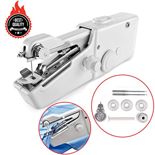 Awekris Handy Stitch, Mini Hand Sewing Machine Portable Handheld Stitch Cordless Battery Powered for Home Travel by Awekris
