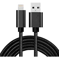 PowerUp iPhone Charger, Apple Certified Lightning Cable, 6 Charger Cord, Black