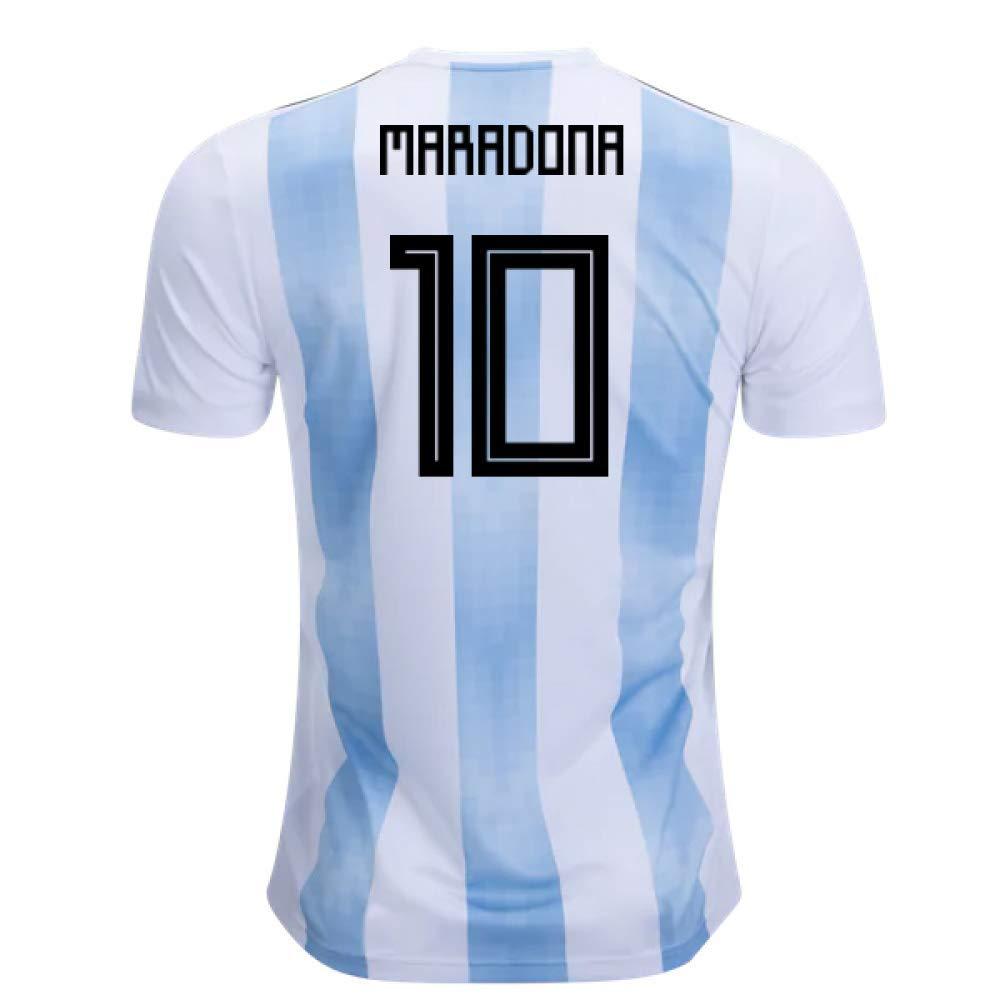 【激安大特価!】 2018-19 Argentina 2018-19 Home Shirt B07H9SD77T (Diego Maradona 10) B07H9SD77T 42-44