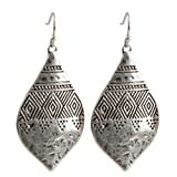 Bohemian Hammered  and  Engraved Silver Earrings - SPUNKYsoul Collection