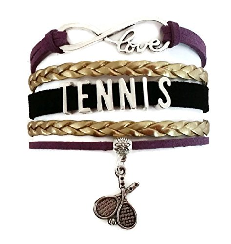 nis jewelry, love infinity bracelet, sports bracelet, leather bracelet (Kisses Tennis Bracelet)