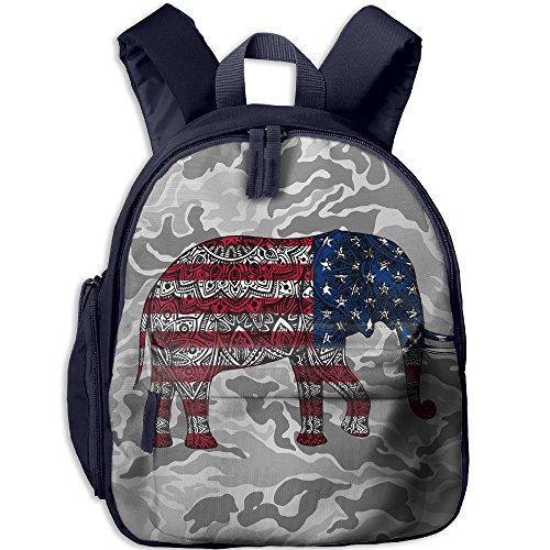 Tribal Usa Flag Elephant Oxford Bookbags School Backpack Classic Schoolbag For Children Kids