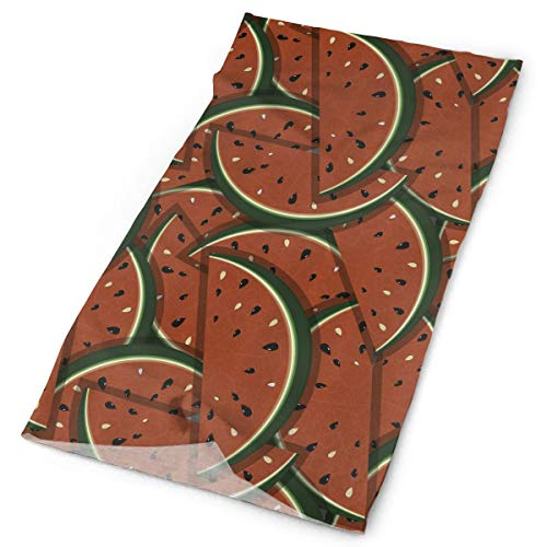 ASDGEGASFAS Multifunctional Magic Headwear Refreshing Watermelon Summer Elastic UV Protection Quick Dry Microfiber Bandana/Scarf/Face Mask/Neck Gaiter/Balaclava Outdoor Sports ()