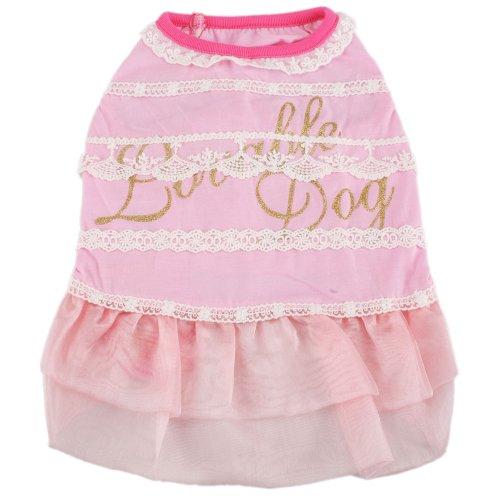 Pink Pet Dog Cat Apparel Dress Lace Skirt Clothes – Size XL Extra Large (XL), My Pet Supplies