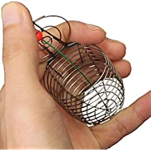Sports & Outdoor - Stainless Steel Small Fishing Bait Cage Trap Basket Feeder Holder - 1PCs