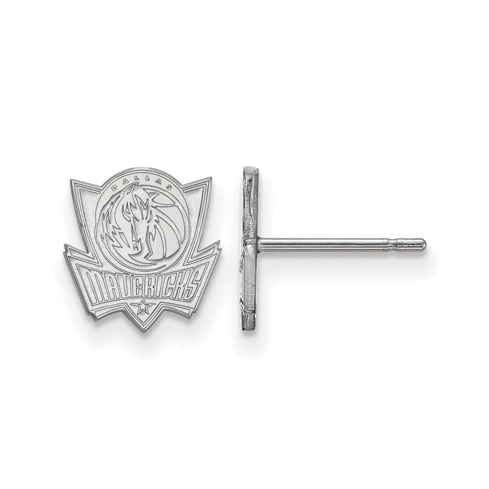 LogoArt NBA Dallas Mavericks X-Small Post Earrings in Sterling Silver