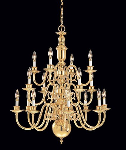 (Classic Lighting 6716 Yorktown, Traditional Polished Brass, Chandelier)