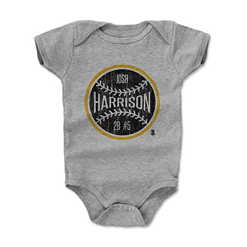 (500 LEVEL Josh Harrison Baby Clothes, Onesie, Creeper, Bodysuit 18-24 Months Heather Gray - Pittsburgh Baseball Baby Clothes - Josh Harrison Ball K)