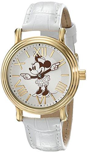 - Disney Women's W001859 Minnie Mouse Analog Display Analog Quartz White Watch