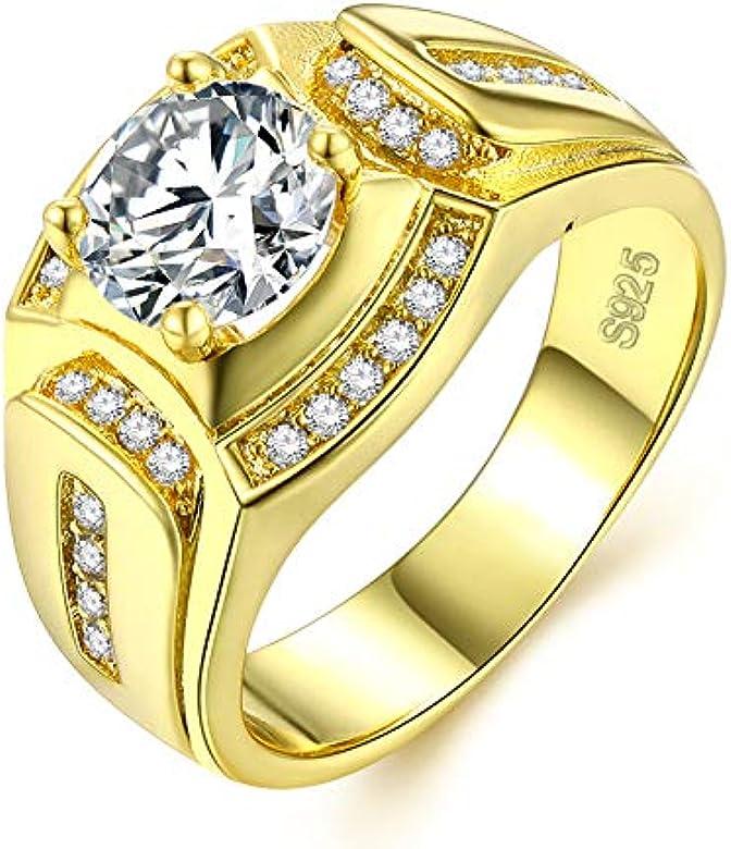 Borong Anillo Oro Hombre joyería de Moda de Boda y Compromiso ...