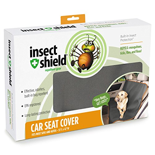 Purpose Saddle Cover - Insect Shield Insect Repellant Car Seat Cover for Protecting Dogs from Fleas, Ticks, Mosquitoes & More