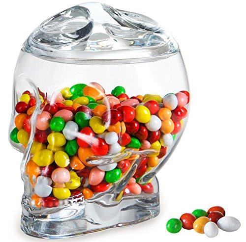 Teacher Candy Jar - Artland 10963 Skulls Holiday Candy Jar, Glass