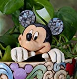JIM SHORE DISNEY TRADITIONS MICKEY MOUSE CACHEPOT CHARACTER SMALL PLANTER STAKE