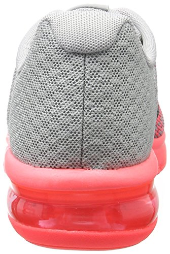 Nike Mädchen Kinder Laufschuh Air Max Sequent 2 Gymnastikschuhe Grau (Wolf/Black-Cool Grey-Hot Punch)