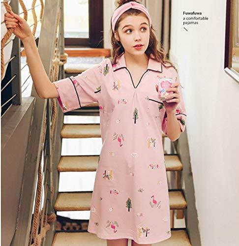 Camisa Con Dormir Vestido Cómodo Vestidos Corta Estampadas Manga Camisones Verano Elegantes Bolsillos Mujer Pijamas De Moda Suave cuello Camisón V Colour PzawdUqq