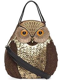 Large Gold Owl Bag