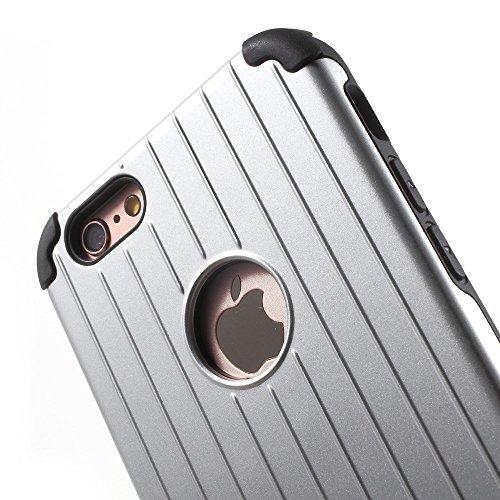 Apple iPhone 6/6S Housse Case TPU/gel Valise Look Argent decui Argent Gel/TPU Étui Coque