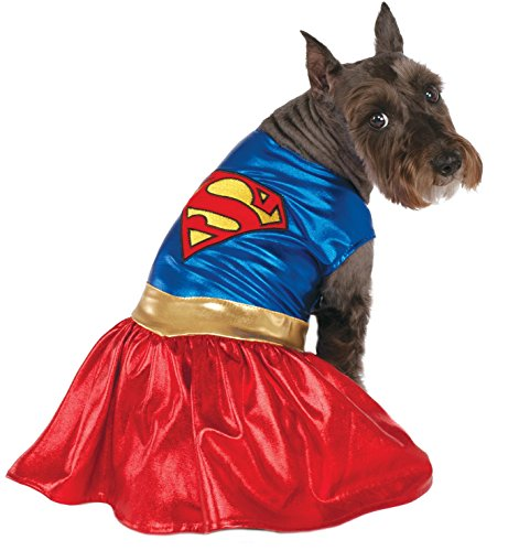 DC Comics Pet Costume, Small, Supergirl - coolthings.us
