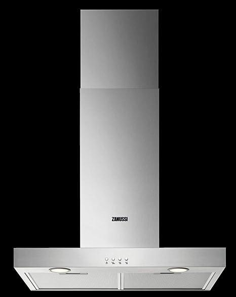 Zanussi ZHB92670XA - Campana extractora de chimenea (90 cm, acero inoxidable): Amazon.es: Hogar