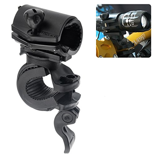 Tinksky Portable 360-degree Rotating Bicycle Mount Flashlight Torch Holder(Black)