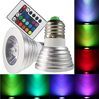 remote control magic lighting led light bulb with 16 different colors and 5 modes led. Black Bedroom Furniture Sets. Home Design Ideas