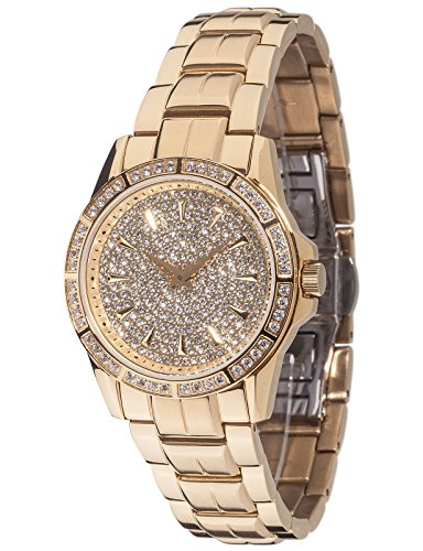 Yves Camani Galaure Womens Watch Quartz Analog Stainless Steel Gold Plated YC1071-C