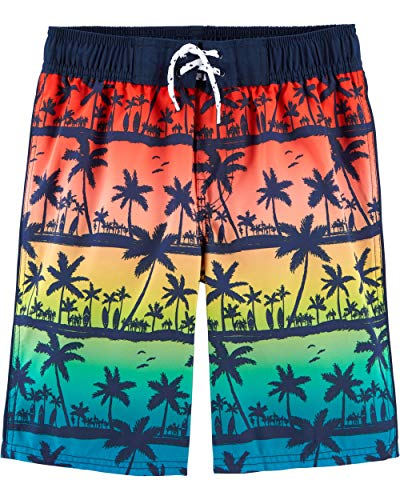 Osh Kosh Little Boys' Swim Trunks, Palm Trees, 7 (Boys Swim Trunks Size 7)