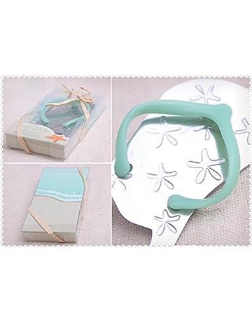 Chancla abridor bebé azul regalo bautizo comunión