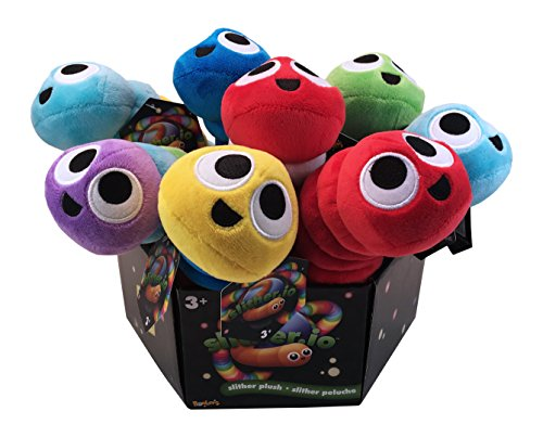 Slither.io 502 Assorted Styles Bendable Plush Toy, - Plush Bendable