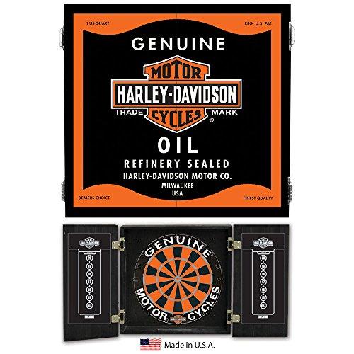 Harley Davidson Oil Can Dart Cabinet 61912 by Harley-Davidson
