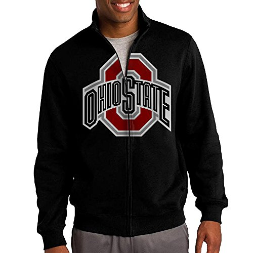 Price comparison product image Simoon Ohio State University Logo Men's Solid Stand Collar Zipper Jacket Size S