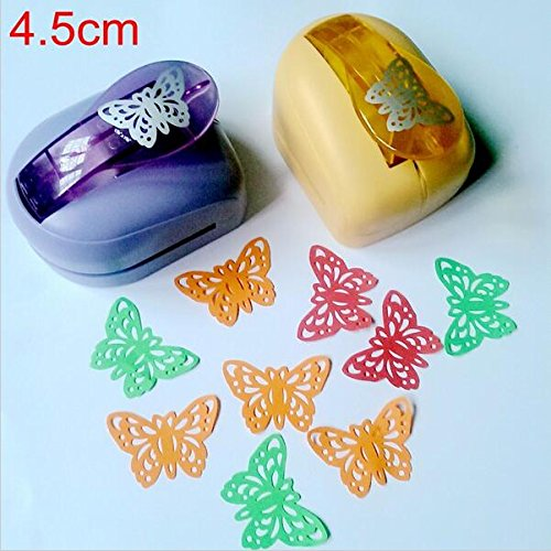 Butterfly Scrapbooking Punches - Krismile® Jef Large Butterfly Shaper Craft Punch Scrapbooking Punches Paper Puncher DIY tools Perforadora Papel Paper Cutter School k612(Random color)