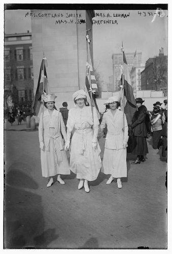 Price comparison product image Photo: Mrs. Cortland Smith, Mrs. A. Lehman, Mrs. H.S. Carpenter, women, flags