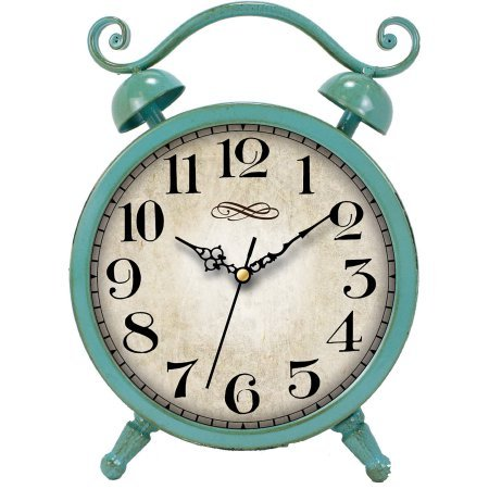 Better Homes and Gardens Teal Table Clock from Better Homes & Gardens